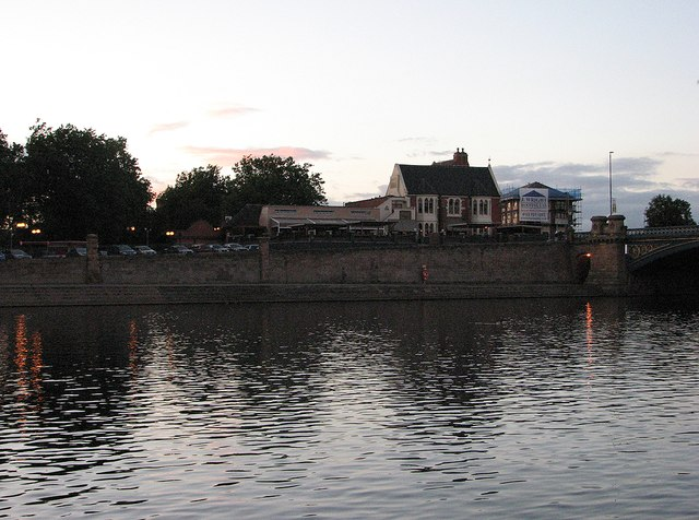 Trent Bridge: The Riverbank at sunset