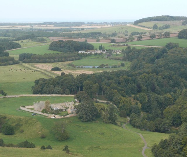 Hulne Priory seen from Brizlee Tower