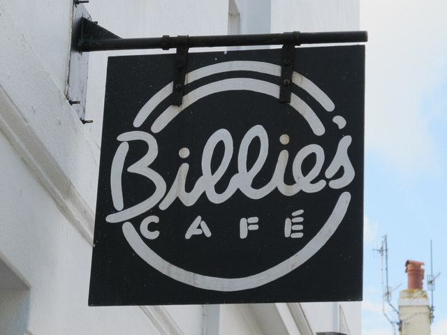 Sign for Billie's Café, Upper North Street / Hampton Place, BN1