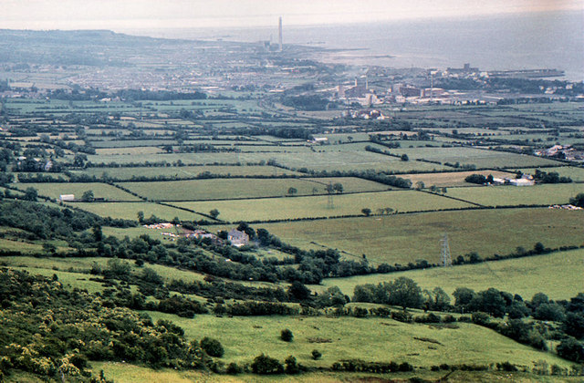Carrickfergus from Knockagh (1980)