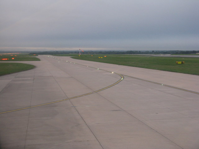 Taxiway at Manchester International Airport