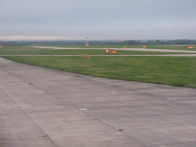 Manchester Airport - airfield signs and equipment