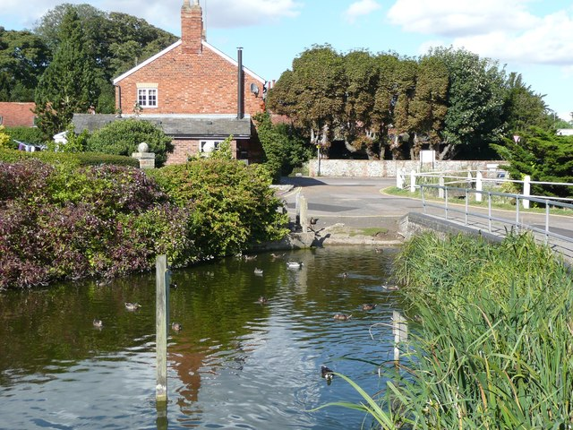 The duck pond, Graveley
