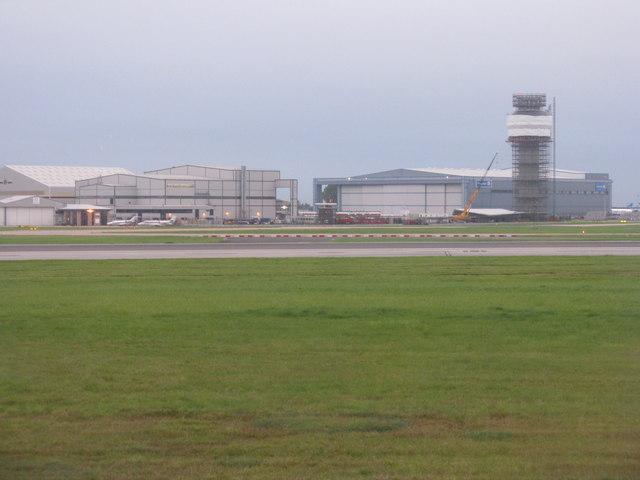 Hangars at Manchester Airport