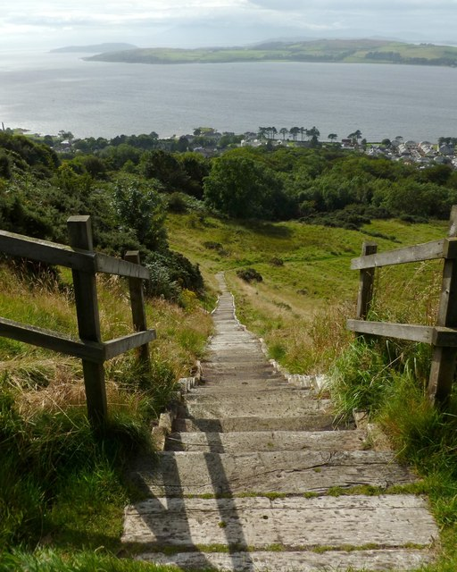 Steps leading downhill