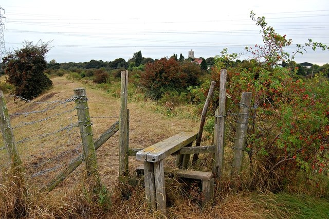 Stile on a footpath near Fobbing