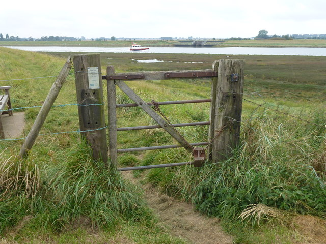 Simple but effective - Gate on The Sir Peter Scott Walk