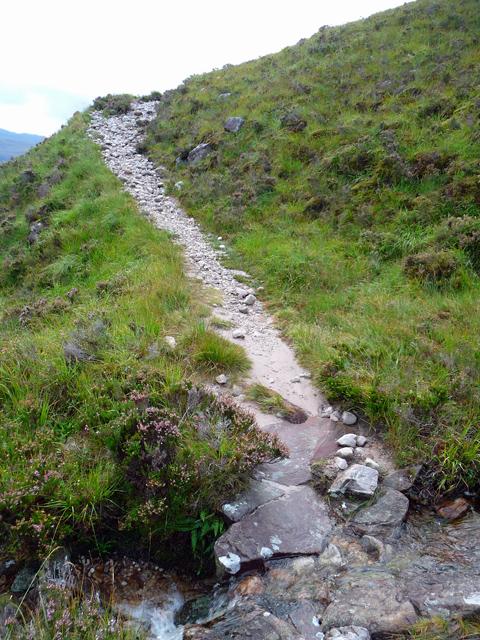 Climbing towards Bealach a' Choire Ghairbh