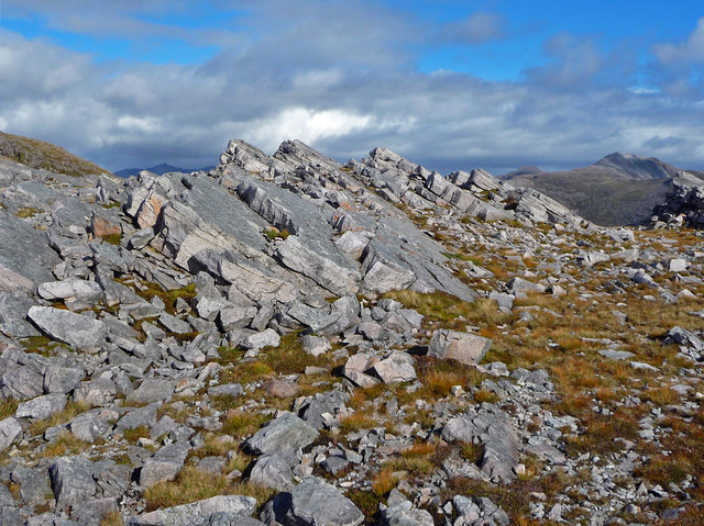 On the south east shoulder of Maol Chean-dearg