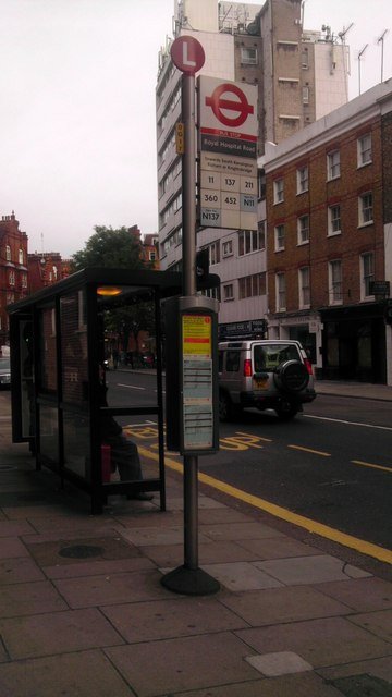 Bus Stop in Sloane Avenue Chelsea