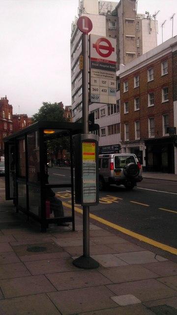 Bus Stop in Sloane Avenue Chelsea