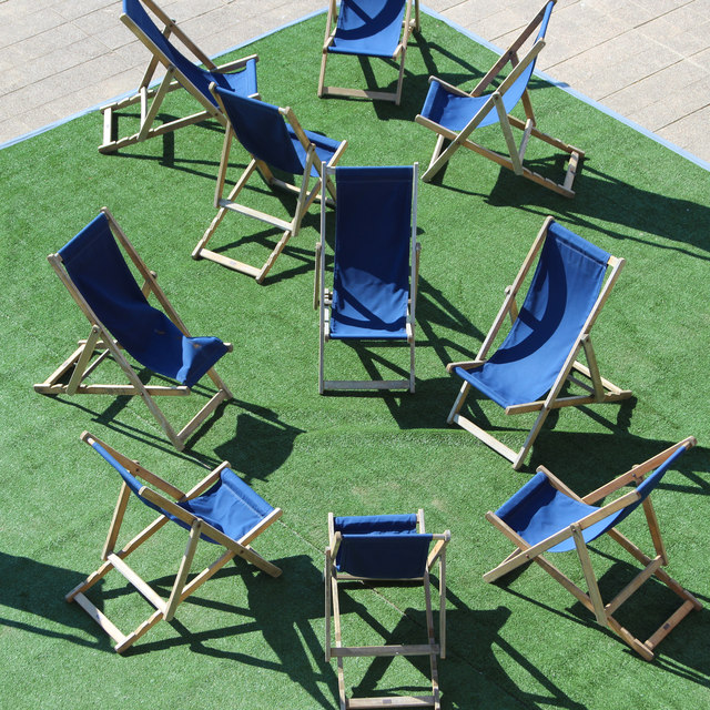 Deck chairs at De La Warr Pavilion