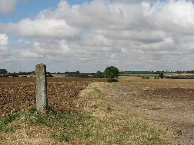 Gate post and farm track