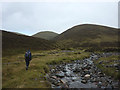 NN6675 : Heading up the Allt Fraoch Choire by Karl and Ali