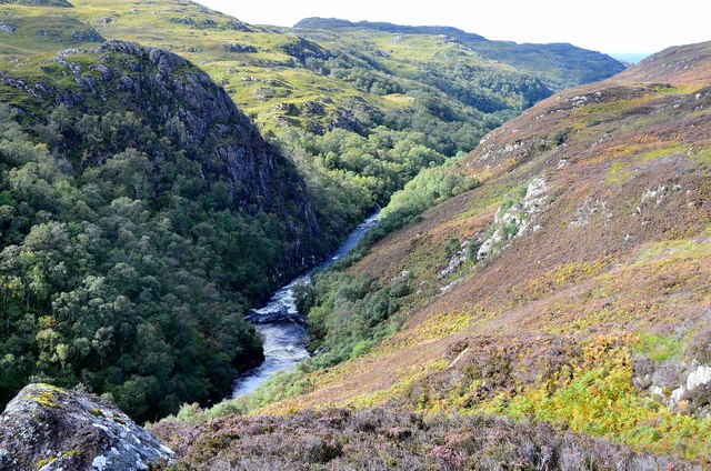 The River Kirkaig gorge