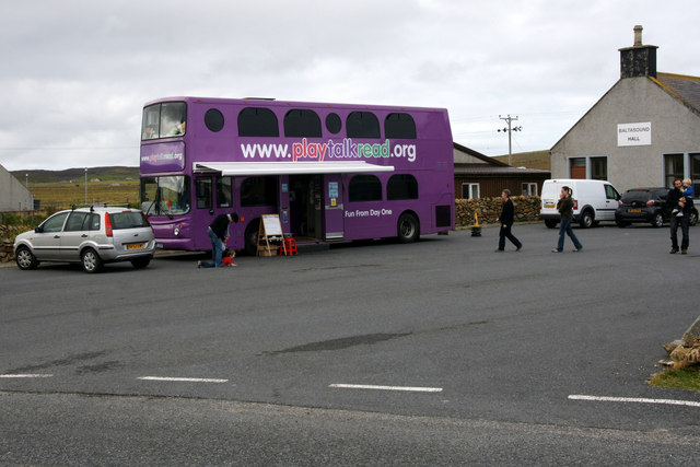Book Bus at Baltasound Hall