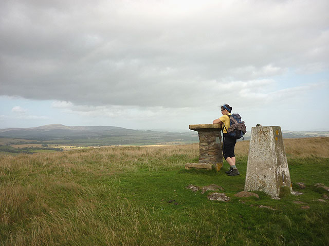 Studying the view on Hill of Alyth