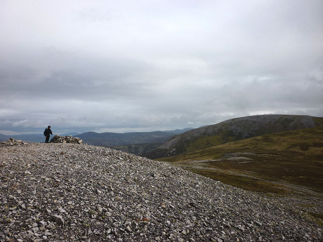 On the summit of Geal Charn (878m)