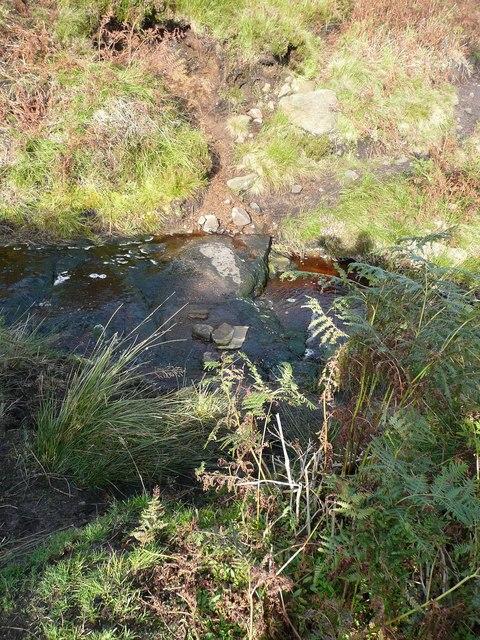 Path across stream near the shooting box