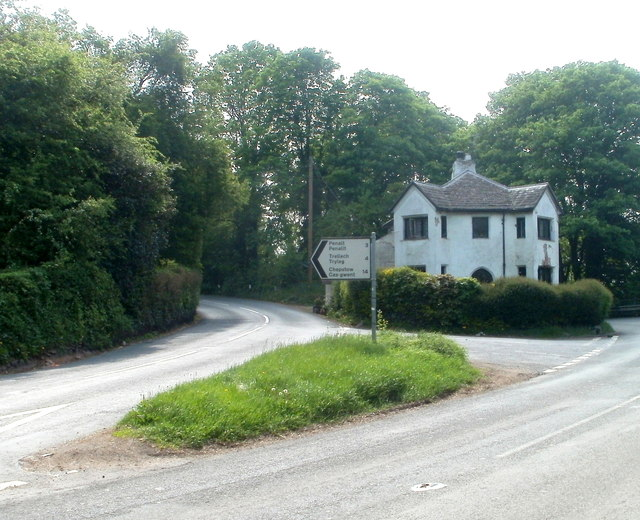 Grade II listed Tollgate House near Mitchel Troy