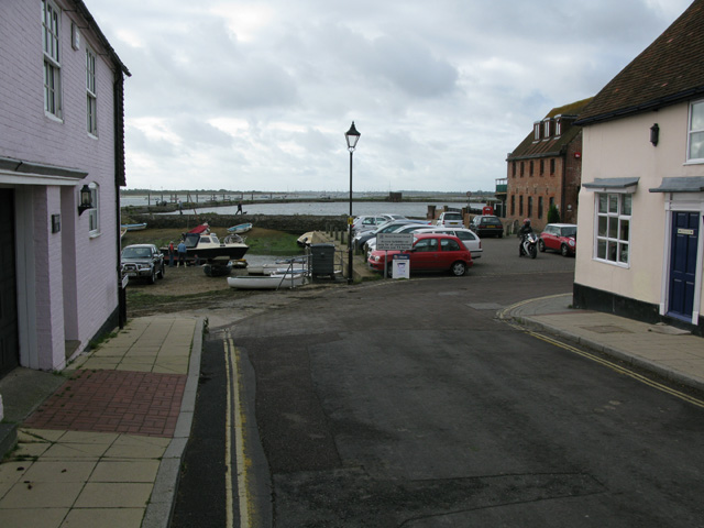 Emsworth Harbour from the southern end of South Street