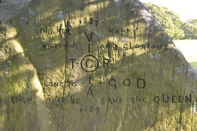 Jubilee Rock, Chatsworth Estate- close up of inscription