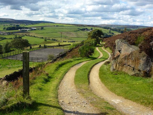 Farm track south of Haworth