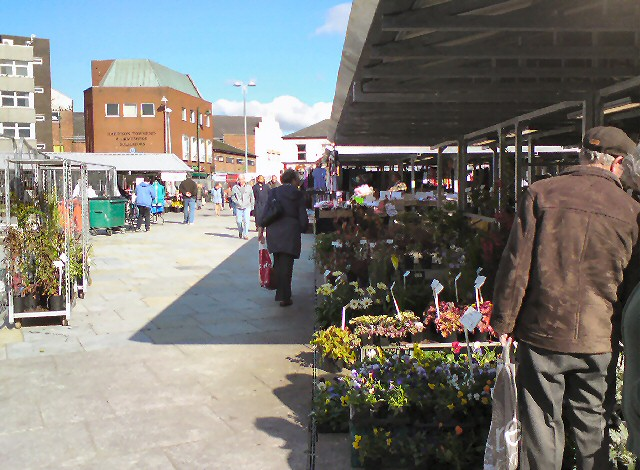 Busy Market Stalls