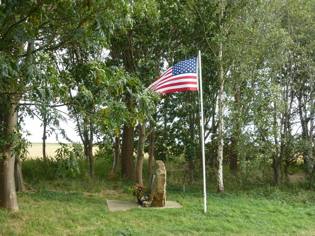 Stars and stripes - USAF air crash memorial - Thorney, UK