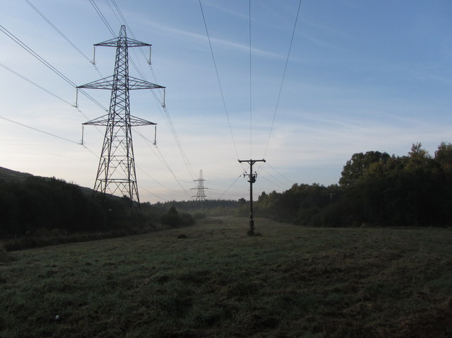Field and pylon near Heathfield