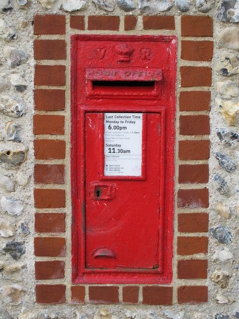 Victorian postbox, Temple Gardens, BN1