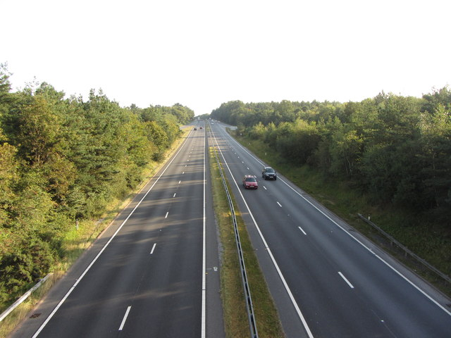 The A38 near Heathfield
