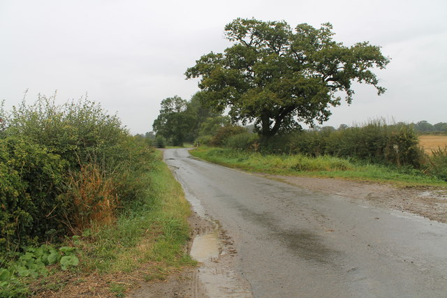 Unnamed lane towards the A151