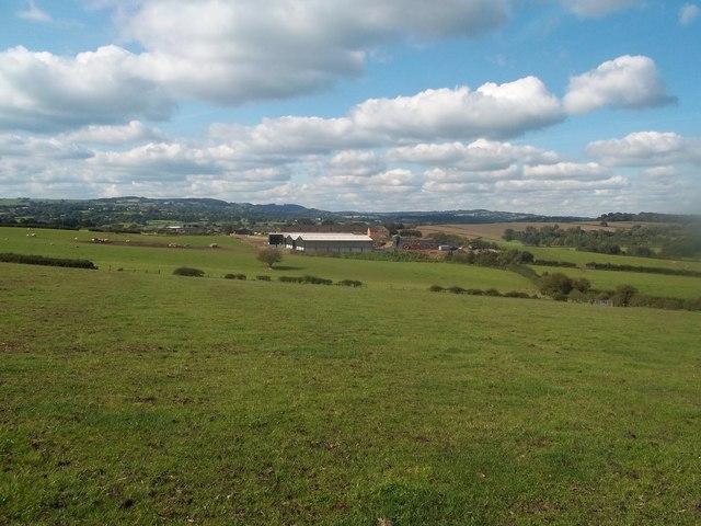 Pasture overlooking Ufton Fields Farm