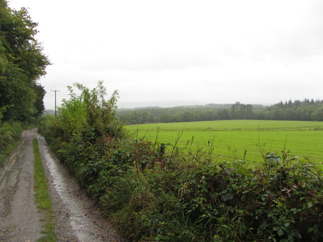 Templer Way and fields near Stover Park