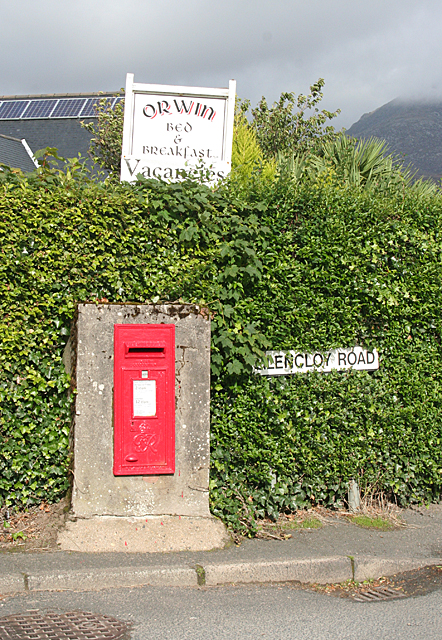 Post Box at Glencloy Road