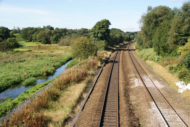 Middle Brook and the railway to Wigan