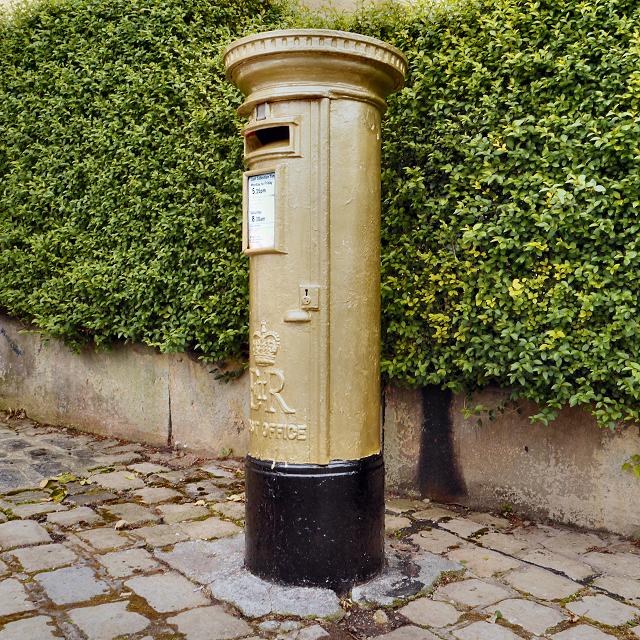 Sarah Storey's Gold Postbox, Disley