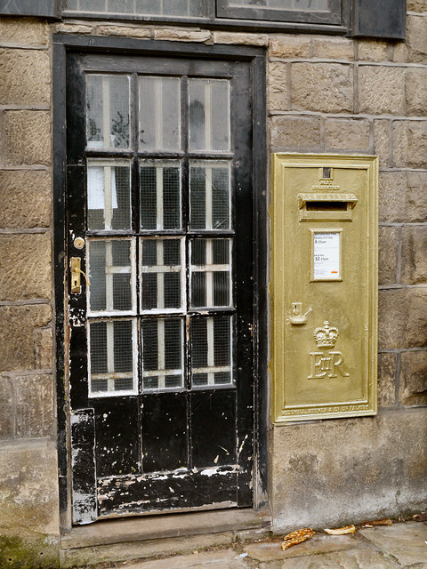 Barney Storey's Golden Postbox in Disley