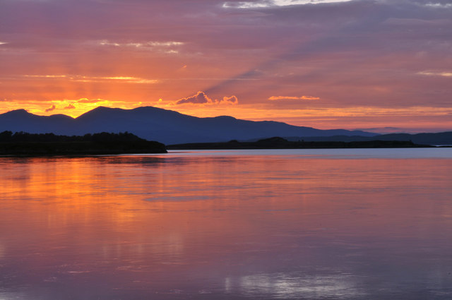 Sunset from Connel
