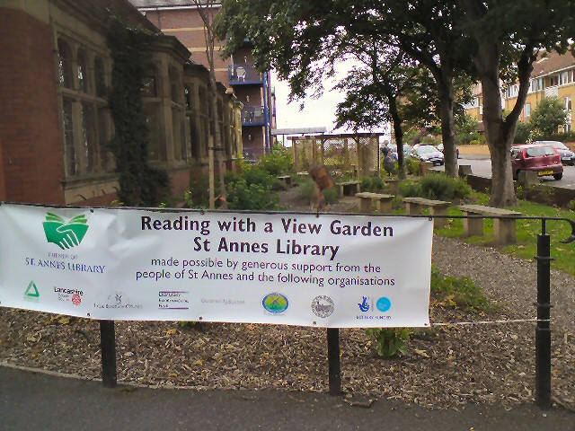 Reading with a view garden