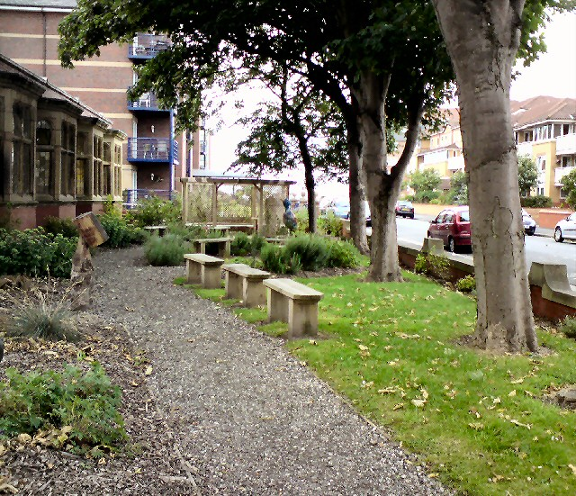 St Annes Library side garden