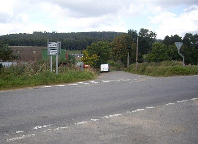 B993 near Pitmedden Smithy