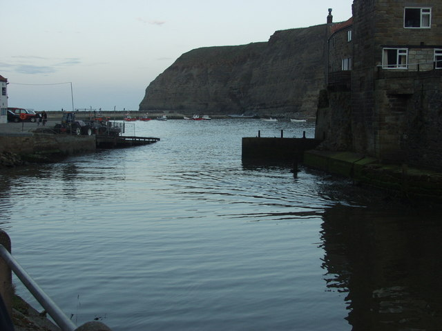 Looking out from Staithes beck