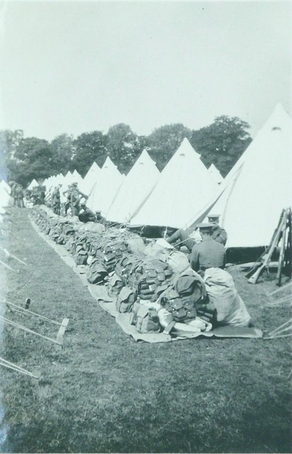 Army camp at Bowers Farm in 1928