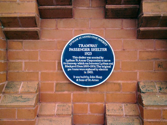 Ansdell Tram Shelter Blue Plaque