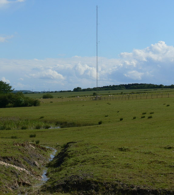 Test mast for the proposed Asfordby wind farm