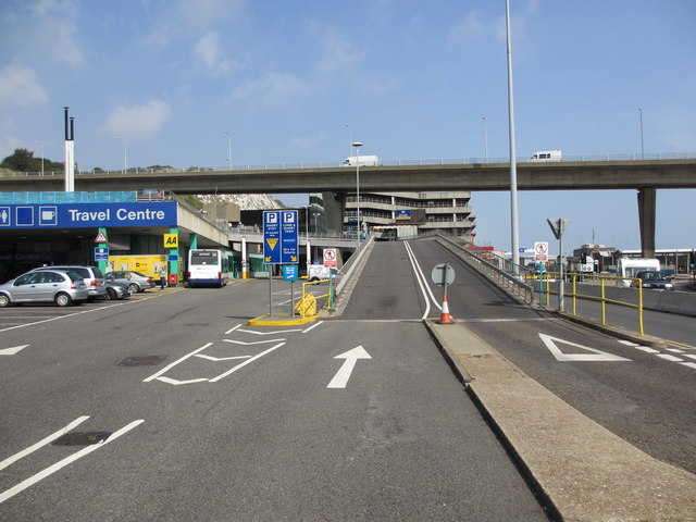 Ramp to Port of Dover Car Park