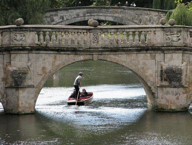 Clare Bridge and a punt
