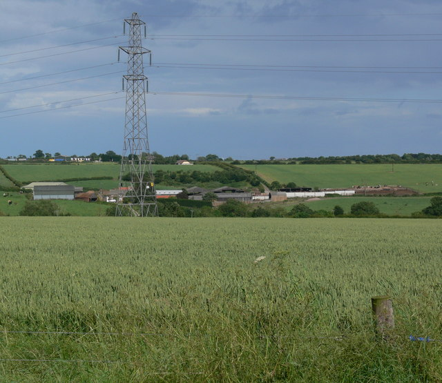 Welby Grange and farmland